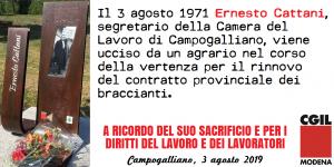 Anniversario assassino Ernesto Cattani