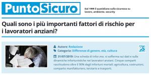 PuntoSicuro - Quali sono i più importanti fattori di rischio per i lavoratori anziani?