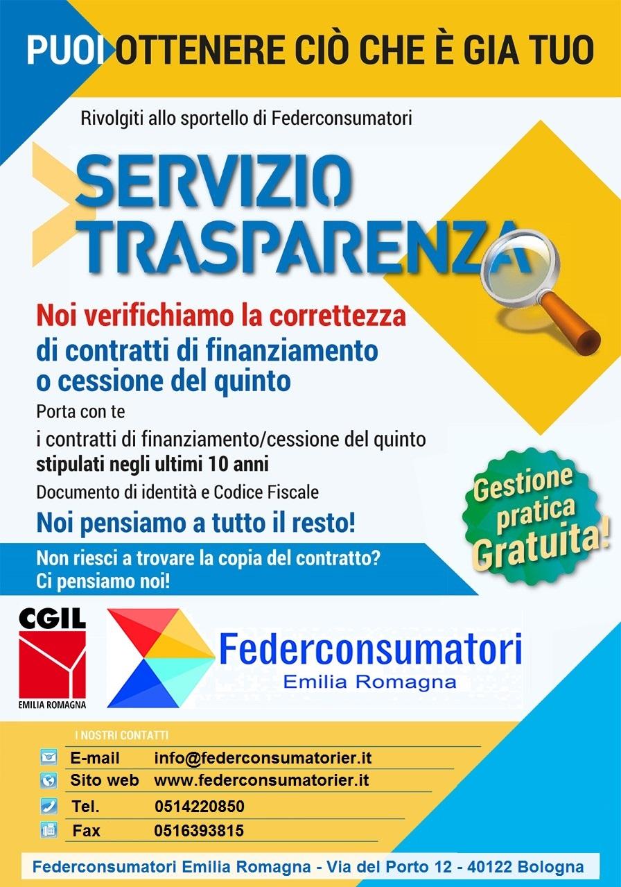 servizio trasparenza