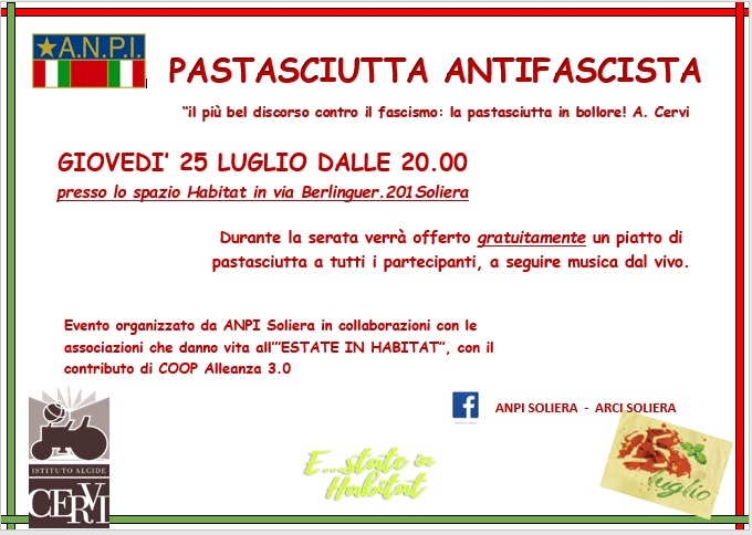pastasciutta antifascista Soliera