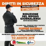 Sciopero vigilanza privata - 1 e 2 agosto 2019
