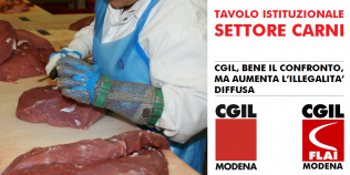 Tavolo istituzionale settore carni: Cgil, bene il confronto, ma aumenta l'illegalità diffusa (22/8/2019)