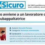 PuntoSicuro - Se l'infortunio avviene a un lavoratore di un'impresa subappaltatrice