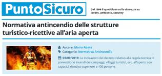 PuntoSicuro - Normativa antincendio delle strutture turistico-ricettive all'aria aperta