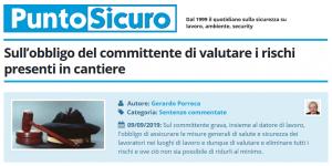 PuntoSicuro - Sull'obbligo del committente di valutare i rischi presenti in cantiere