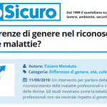 PuntoSicuro - Ci sono differenze di genere nel riconoscimento di infortuni e malattie professionali?