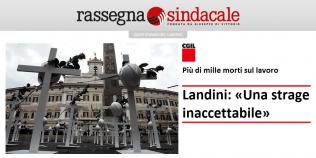 """Rassegna Sindacale - Più di mille morti sul lavoro. Landini: """"Una strage inaccettabile"""""""