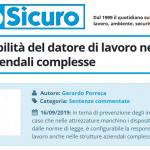 PuntoSicuro - La responsabilità del datore di lavoro nelle strutture aziendali complesse