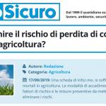 PuntoSicuro - Come prevenire il rischio di perdita di controllo dei mezzi in agricoltura?