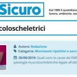 PuntoSicuro - I disturbi muscoloscheletrici