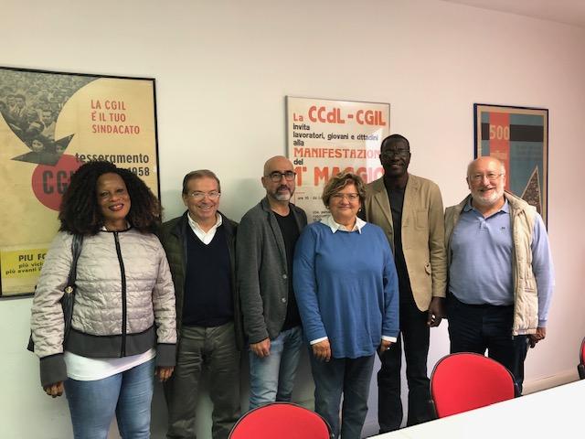 Sindacalista ivoriano in Italia. Incontro con Cgil Emilia-Romagna ed Flc Cgil Modena