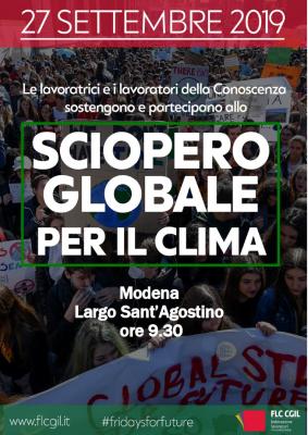 Flc Modena adesione Friday For Future 27.9.19