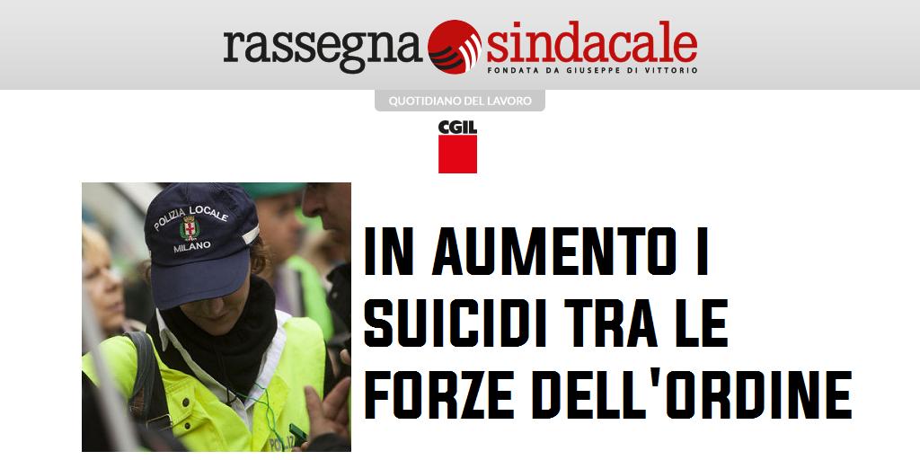 Rassegna Sindacale - In aumento i suicidi tra le forze dell'ordine