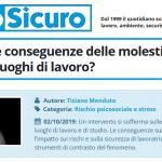 PuntoSicuro - Quali sono le conseguenze delle molestie sessuali nei luoghi di lavoro?