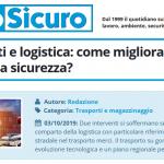 PuntoSicuro - Autotrasporti e logistica: come migliorare la gestione della sicurezza?