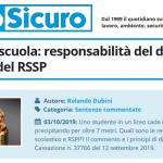 PuntoSicuro - Infortunio a scuola: responsabilità del dirigente scolastico e del RSPP