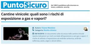 PuntoSicuro - Cantine vinicole: quali sono i rischi di esposizione a gas e vapori?