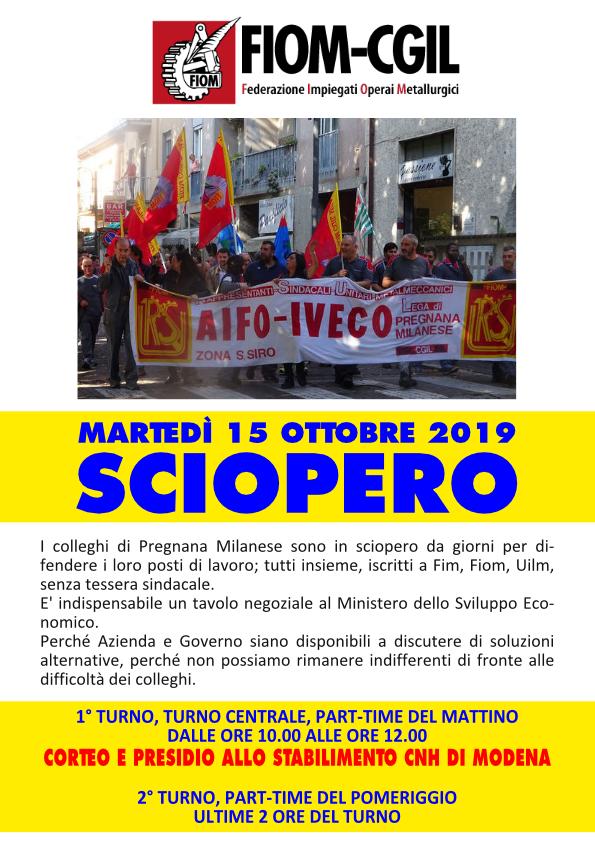 Sciopero e presidio Cnhi a Modena - 15/10/2019