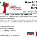 costituzione iniziativa Mirandola, 17.10.19