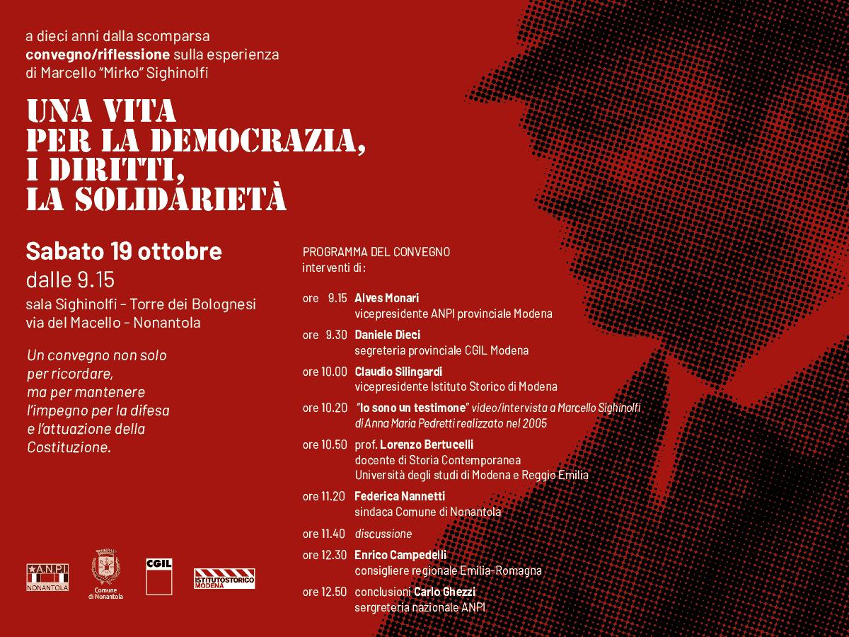 Nonantola convegno Marcello Mirko Sighinolfi, 19.10.19