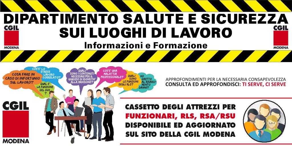 Dipartimento Salute E Sicurezza Sui Luoghi Di Lavoro Informazioni E Formazione Cgil Modena