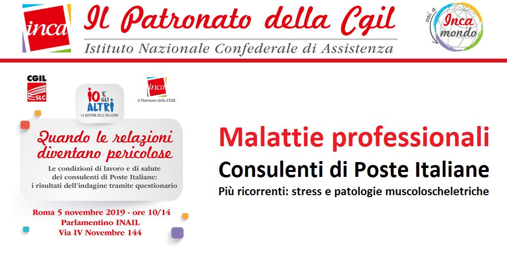 Patronato Inca Cgil - Malattie professionali Consulenti di Poste Italiane
