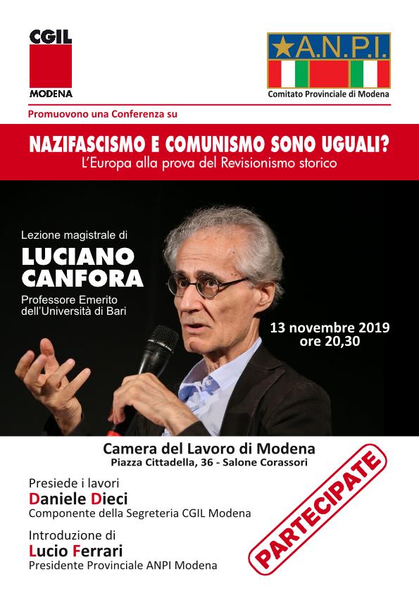 lezione_magistrale_Luciano_Canfora nazifascismo e comunismo sono uguali