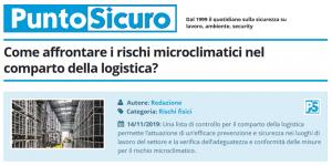 PuntoSicuro - Come affrontare i rischi microclimatici nel comparto della logistica?