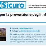 PuntoSicuro - Sulle norme per la prevenzione degli infortuni sul lavoro
