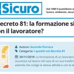 PuntoSicuro - I quesiti sul decreto 81: la formazione si trasferisce con il lavoratore?