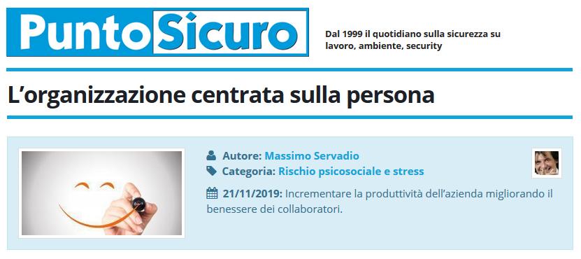 PuntoSicuro - L'organizzazione centrata sulla persona