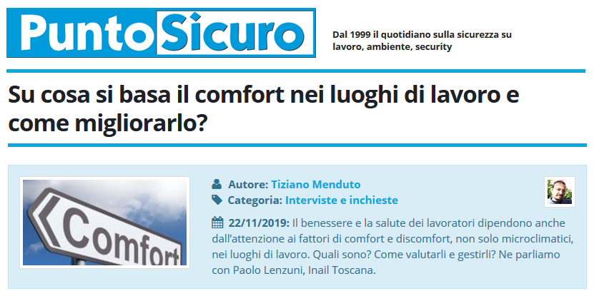 PuntoSicuro - Su cosa si basa il comfort nei luoghi di lavoro e come migliorarlo?
