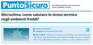 PuntoSicuro - Microclima: come valutare lo stress termico negli ambienti freddi?