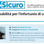 PuntoSicuro - Sulla responsabilità per l'infortunio di un Vigile del fuoco