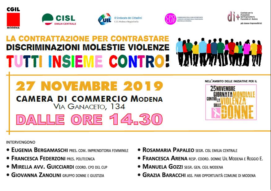 27.11.19 donne violenza luoghi lavoro