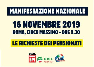 manifestazione pensionati 16.11.19