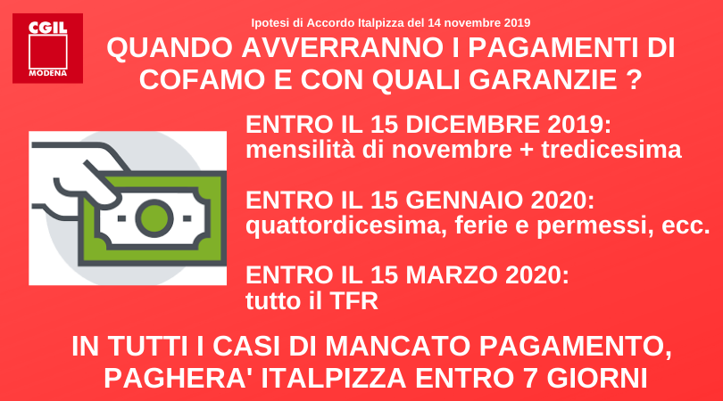 Pagamenti - Accordo Italpizza 14/11/2019