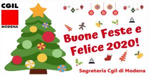 Cgil Buone Feste e Felice 2020