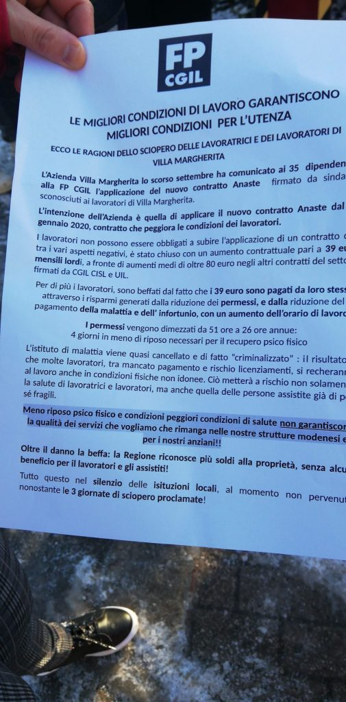 Villa margherita sciopero 14.12.19