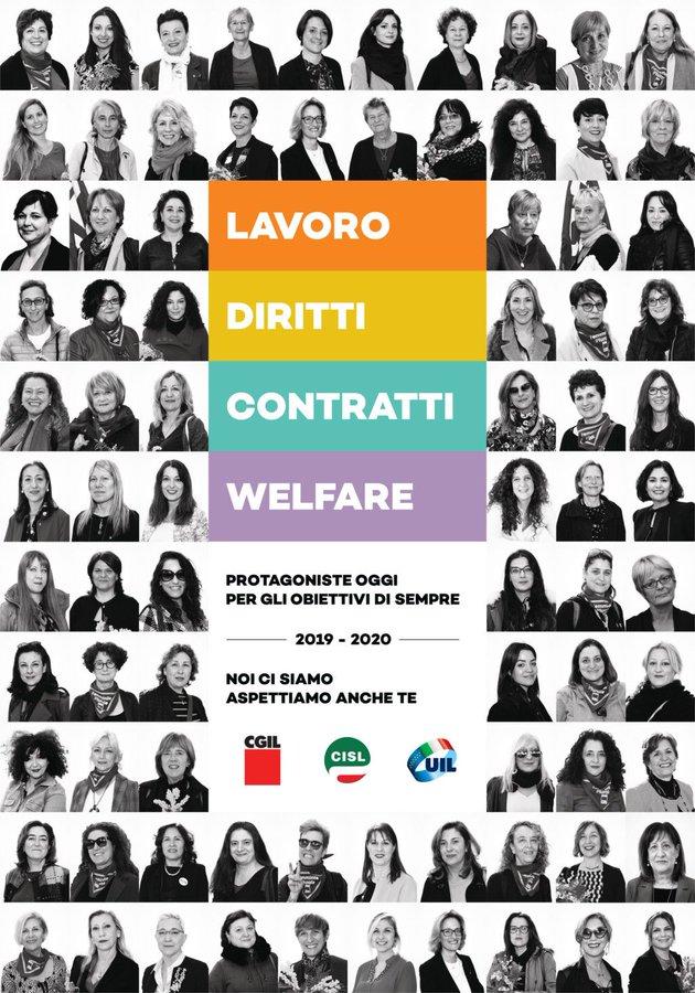 Le donne e gli obiettivi di #CgilCislUil #10febbraio #lavoro #diritti #contratti #welfare