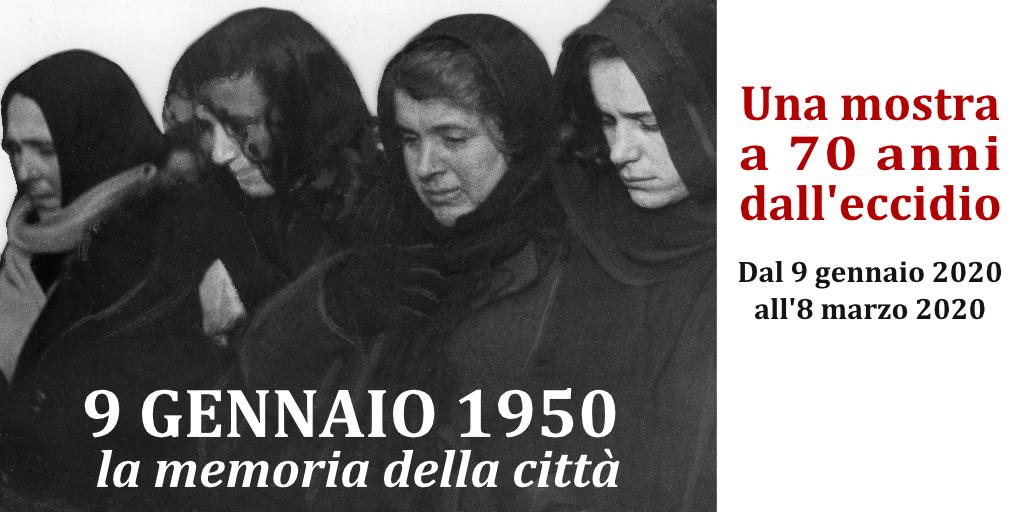 9 Gennaio 1950 - 9 Gennaio 2020: la memoria della città