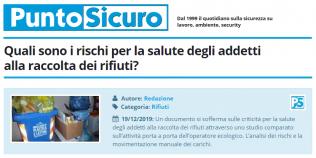 PuntoSicuro - Quali sono i rischi per la salute degli addetti alla raccolta dei rifiuti?