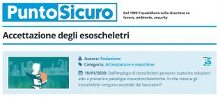 PuntoSicuro - Accettazione degli esoscheletri