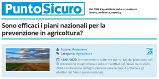 PuntoSicuro - Sono efficaci i piani nazionali per la prevenzione in agricoltura?