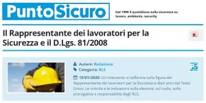 PuntoSicuro - Il Rappresentante dei lavoratori per la Sicurezza e il D.Lgs. 81/2008