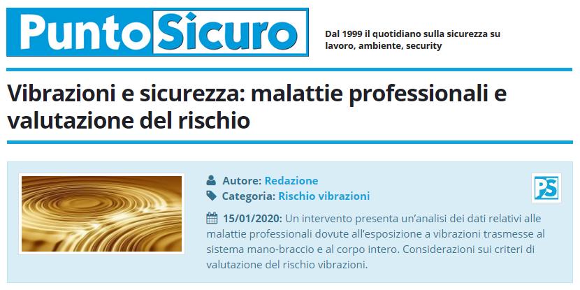 PuntoSicuro - Vibrazioni e sicurezza: malattie professionali e valutazione del rischio