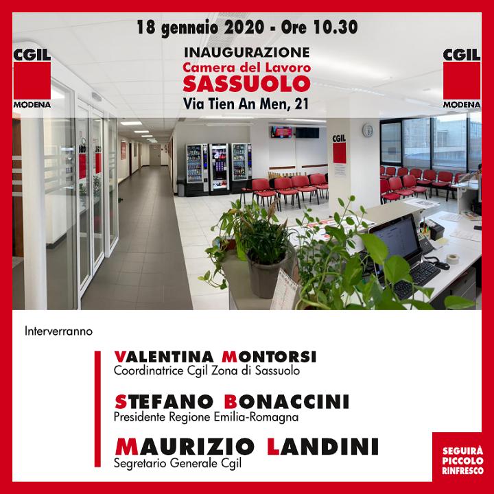 inaugurazione_cdl_sassuolo Landini 18.1.20