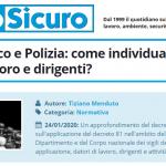 PuntoSicuro - Vigili del fuoco e Polizia: come individuare datore di lavoro e dirigenti?