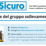 PuntoSicuro - Le attrezzature del gruppo sollevamento