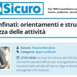 PuntoSicuro - Ambienti confinati: orientamenti e strumenti per la sicurezza delle attività